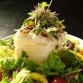 料理メニュー写真厚切り大根とカリカリベーコンのサラダ
