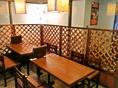 すべてのテーブルが移動可能なので、30名様までの宴会も対応可!貸切もできますよ!