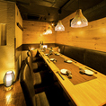 渋谷店ではご宴会向けのテーブル席は広めのお席をご用意しております!渋谷でのショッピング帰りに気軽にお立ち寄り下さい!お安くお得な飲み放題付コースご用意致しております!渋谷で居酒屋をお探しなら当店へ!渋谷駅徒歩2分!