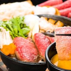 【旨豚すき焼き 2200円(約2名様)税込】旨豚100%のあっさりすき焼き。