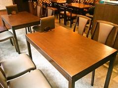 清潔感あるテーブルはもちろん、店内はいつも綺麗です◎