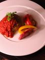 料理メニュー写真ソイミートのハンバーグ