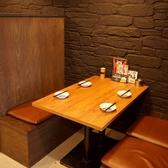 4人掛けのボックステーブルでプチ宴会☆