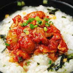 料理メニュー写真和風出汁茶漬け 海苔・鮭・梅・チャンジャ