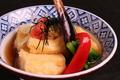 料理メニュー写真栃尾毘沙門堂の豆腐を使った揚げ出し豆腐