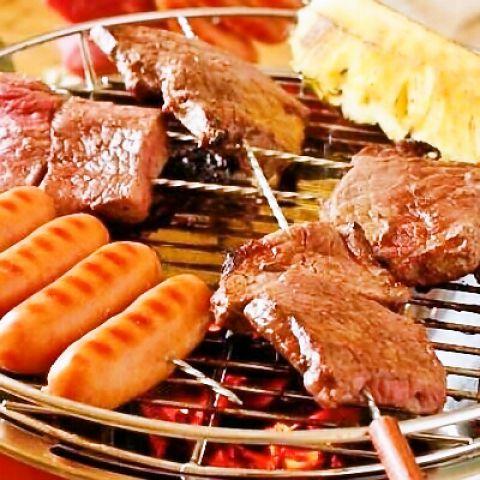 【肉尽くしBBQコース】肉、倍増量!全12品飲放2H付き5500円