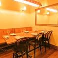 【デート/女子会】2~6名様向け。完全個室のテーブル席は、大切な方とのお食事にぴったり。オシャレな店内でゆったり♪アットホームな空間で、周りを気にせずくつろぎながら美味しい料理を堪能できるお席です。接待・デート・女子会等におすすめです!