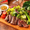 料理メニュー写真和牛イチボのステーキ