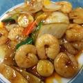 料理メニュー写真海老の麻辣醤(山椒チリ)炒め