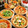 【窯焼きピッツァ食べ放題コース】本日のサラダ・本日の前菜3種盛り含む全12品2H3500円(税抜※画像は一例です