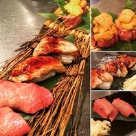 【肉寿司】盛り合わせのバリエーション多彩