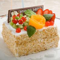 【記念日特典】メッセージ付き自家製ケーキプレゼント。