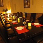 ご希望の人数でお席をお作りすることが可能。写真は10名様用でお作りしたお席。少人数での各種宴会や大人数の女子会にもおすすめ。
