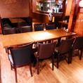 8名様のテーブル席です。※同タイプがもう一テーブルあり、16名様のご宴会も可能です。