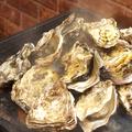 料理メニュー写真名物!牡蠣の鉄板ガンガン焼き500g