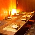 落ち着いた雰囲気の個室は会社宴会や接待やお祝い事など、大切な方をもてなすお食事会にもおすすめです♪
