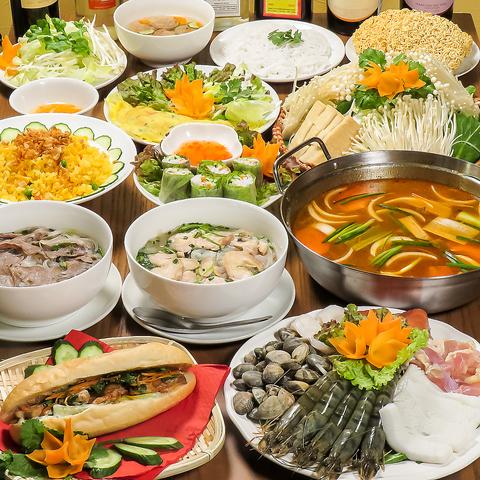 ☆ベトナム人コックが作るベトナム料理☆女性向けの落ち着いた店内