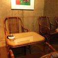 ゆったり座れる椅子はクッション付きなので長時間ゆったりできるようになっております。