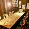 テーブル個室。ワイワイできます◎