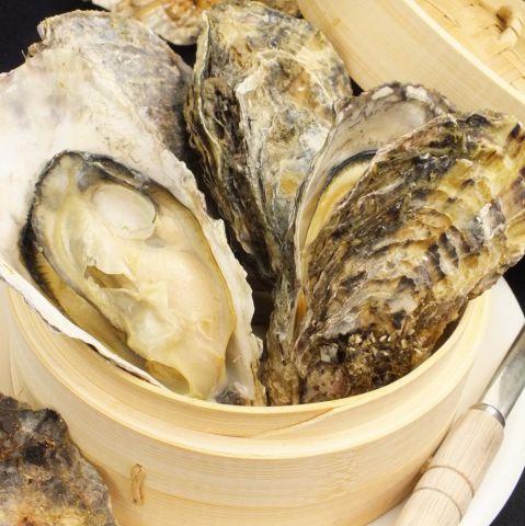 牡蠣のセイロ蒸し 2個