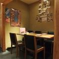 4~6名の半個室で、プライベートな飲み会や会社の少人数の飲み会にも便利にご利用いただけます★人数に合わせて席配置も変えられます♪
