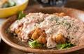 料理メニュー写真・ゴーヤとコーンのかきあげ ・大山どりのチキン南蛮 自家製タルタルソースで ・鶏の天ぷら