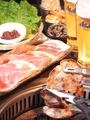 料理メニュー写真韓国漬込み豚カルビ