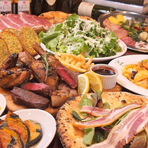パーティー・記念日・歓迎会などに最適!ディナーは組み合わせ自由のセットが大人気