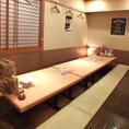 ゆったり掘りごたつの座敷です。【鹿児島/中央駅/居酒屋/宴会/飲み放題/コース/個室/生ビール/カラオケ/肉/鍋】