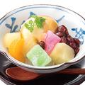 料理メニュー写真クリームフルーツみつ豆