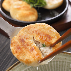 料理メニュー写真スープ溢れる丸餃子