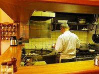オープンな調理場!お客様との距離を近く!
