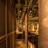 オシャレな店内は隠れ家の雰囲気も感じられるデザイナーズ空間。