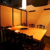 2名様~最大10名様収容のテーブル式個室は会社宴会や友人同士の食事会に最適