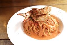 【1位】渡り蟹のトマトクリームパスタ