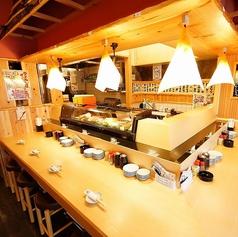 職人が握るお寿司を目の前で堪能!!※画像は系列店です。