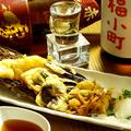 料理メニュー写真豚肉のミルフィーユ天ぷら(野菜天ぷら付)