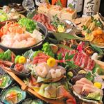 当店限定地物宴会は全て牛タン付&宮城県鮮魚付!地酒付、金華鯖、あんこう、せり等宮城食材多数です