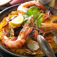 ◆魚介とサフランで炊き込むパエリア