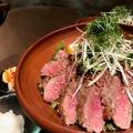 料理メニュー写真サーロインステーキ丼