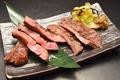 料理メニュー写真【牛タンの食べ比べ】 2枚 約120g