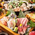 日本橋三越前での各種宴会におすすめの飲み放題付コースは3980円(税抜)~お値段別に多数ご用意しております。毎朝仕入れる旬の鮮魚や契約農家から直送の季節野菜などを使用した当店自慢の創作和食をご堪能頂けます。会社宴会や接待、歓送迎会などビジネスシーンから、デートや記念日、女子会、誕生日にも◎!