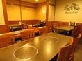 10人規模の大切な宴会対応可能!雰囲気の良いテーブル席はいかがですか。