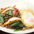 料理メニュー写真ガパオライス(鶏肉のバジル炒め)