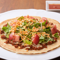 料理メニュー写真タコスピザ/紅芋ポテマヨピザ/ジーマーミー明太ピザ