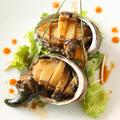 料理メニュー写真アワビの鉄板焼き