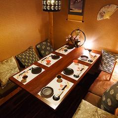 接待向けの完全個室!日本橋三越前での飲み会、宴会にぜひご利用ください。都会の喧騒を忘れさてくれるゆったりとした寛ぎの空間をお楽しみください。各種宴会にお得なコースを多数ご用意しております!