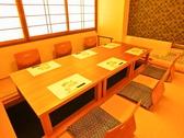【桜の間】・・・結納や顔合わせ、お食い初めなどご家族でのお食事の集まりにも最適な6名様用個室になります。