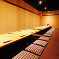 12名~16名の掘りごたつ席は中規模宴会にお使いください。当店自慢のお料理と地酒でご宴会を華やかに◎
