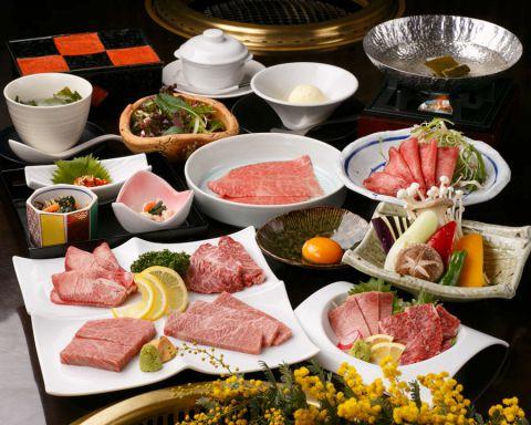◆〜極(きわみ)〜◆ デート・記念日・接待にも。銘々皿盛の特選和牛会席コース料理11品 8000円